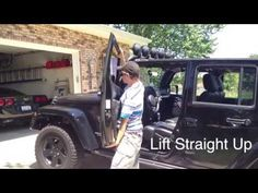 Great video! Shows proper way to take off doors without scratching the paint! ▶ Jeep Wrangler Tutorial: How to Remove the Doors - YouTube