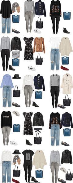 Plus Size Capsule Wardrobe Outfit Options 16-30 via livelovesara #plussize #capsulewardrobe #plussizecapsulewardrobe