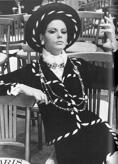 Chanel, photo by Helmut Newton, Vogue US 1967