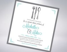 Custom Rehearsal Dinner Invitation by TheDesignBrewery on Etsy