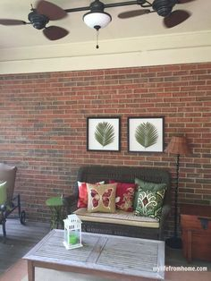Screened In Porch Decorating Ideas & Inspiration | My Life From Home | by http://www.mylifefromhome.com | porch decor | outdoor spaces | decorating a porch | porch refresh | outdoor area