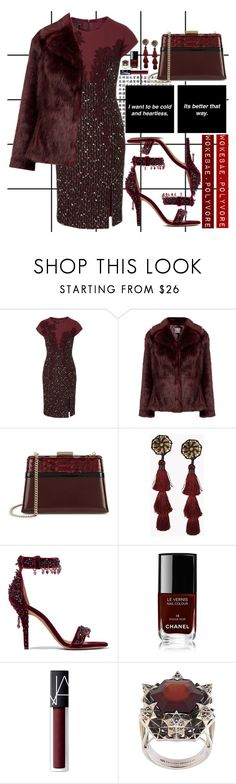 """""""❝ FEMME FETALE — SWINGS ❞"""" by wokebae ❤ liked on Polyvore featuring Forum, ESCADA, Lanvin, Dsquared2, Givenchy, Chanel, NARS Cosmetics and John Brevard"""