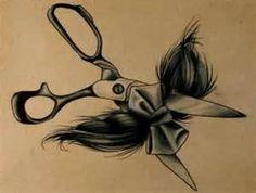 Hairdressing Hair Cut Cutting Sheers Scissors Bow Bows Tattoos