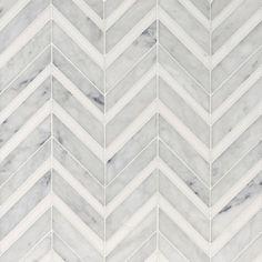 Avenza Honed&polished Chevron Fusion Marble Mosaics 12×11 3/8