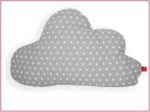 Baby- und Kinderkissen *Wolke* im Sternchenlook grau Color Turquesa, Backrest Pillow, Baby Room, Pillows, House Styles, Gabriel, Montessori, Blog, Clouds