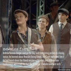 Newsies - Andrew Keenan-Bolger and Ben Cook Theatre Nerds, Music Theater, Broadway Theatre, Newsies Live, The Rocky Horror Picture Show, Dear Evan Hansen, Sad Day, My Escape, Music Stuff
