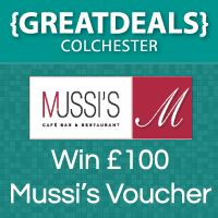 WIN £100 food and drink voucher at Mussi's in Colchester