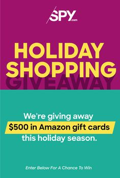 We've posted our first-ever holiday gift guide. We're celebrating by giving away $500 in Amazon gift cards! Enter today!