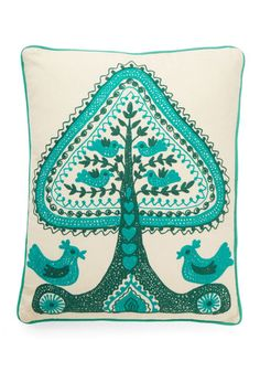 Tree of Flight Pillow. Bring harmony to your abode with this eco-friendly pillow from Karma Living. #multi #modcloth