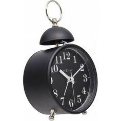 Single Bell - Vækkeur i sort metal. Tabletop Clocks, Alarm Clock, Retro, Black, Products, Desk Clock, Dekoration, Projection Alarm Clock, Black People