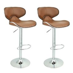 Apontus PU Leather Swivel Hydraulic Bar Stool with Back Cushion, Set of Mocha Our kitchen / bar counter top bar stools will be a rich, contemporary addition Extra Tall Bar Stools, Bar Stools With Backs, Metal Bar Stools, Island Chairs, Stools For Kitchen Island, Kitchen Tables, Kitchen Items, Retro Table And Chairs, Bar Chairs