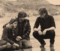 Hermione, Ron, and Bill. Don't know where this pic is from but it's very sweet