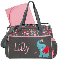 monogram diaper bag/Personalized Elephant by sewsassybootique