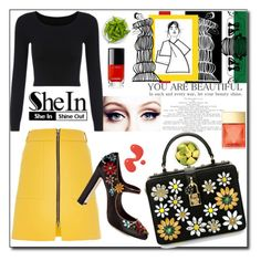 """Shein"" by parodi ❤ liked on Polyvore featuring River Island, ELSE, Dolce&Gabbana, Chanel and Michael Kors"