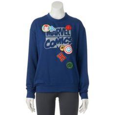 Juniors' Marvel Patches Graphic Sweatshirt