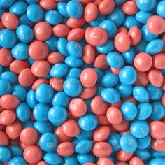 Pink and Blue Tropical Skittles. Another hot color combination - yummy! #Skittles #Candy #Skittle