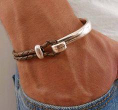 Men's Bracelet Men's Leather Bracelet Men's | Etsy