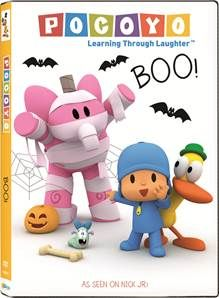 October is my favorite month of the year between the changing weather, fall decorations and all things Halloween. I think this has rubbed off on my kids because they love everything Halloween too! Pocoyo: Boo was our first Halloween DVD of the year so we were all ready to kick off the season with a good family fun DVD!