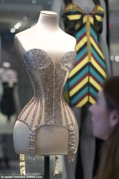 The Mr Pearl corset (pictured) was made for Dita von Teese star for her performances in the year 2011, on display at V&A