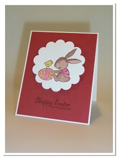 "papierrascheln.blogspot.de 》Osterkarte ""Happy Easter everybunny"""