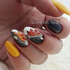 Fall Acrylic Nails, Autumn Nails, Glitter Nail Art, Winter Nails, Fancy Nails, Red Nails, Pretty Nails, Fall Nail Art Designs, Colorful Nail Designs