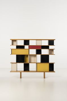 Designer Bookcases love this bookcase and the color blocking | mid-century modern
