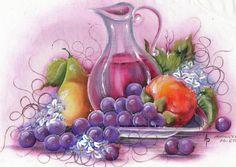 Pintura para pano de prato - Maricélia Montanari Silva