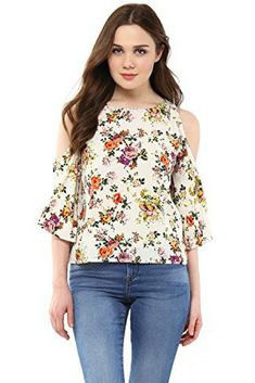 Check out this beautiful floral White Women's Top  #womensfashion #womenswear #girlsoutfit #girlswear #girlsfashion #girls #women