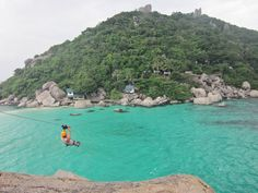Ziplining on Koh Tao (from one island to another!)