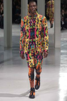 Day-glo: A/W young men's catwalk trend flash Issey Miyake, Pattern Making, Winter Collection, Menswear, Mens Fashion, Catwalks, Fall 2015, Men's Style, Folk