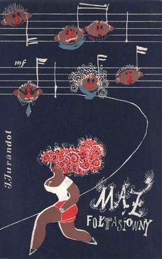 """""""Mąż Fołtasiówny"""" Jerzy Jurandot Cover by Mirosław Pokora Musical comedy in 5 scenes with Władysław Szpilman's music Published by Wydawnictwo Iskry 1960"""