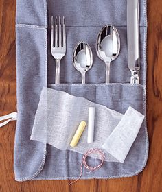 Chalk as Tarnish Prevention - Slow the tarnish on your good silver by tying up a few moisture-absorbing pieces in cheesecloth and store them with your cutlery for shinier flatware that reflects well on you in no time flat.