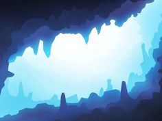 Sea Cave by Michael Wang 2d Game Background, Motion Wallpapers, Underwater Background, Underwater Caves, 2d Game Art, Pixel Art Games, Game Concept Art, Cool Landscapes, Art Plastique