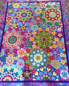 """40 Likes, 5 Comments - @leneice_r on Instagram: """"Millefiori Quilts - all hand-pieced mostly using off-cuts and scraps. #millefioriquilts2 #quilting…"""""""