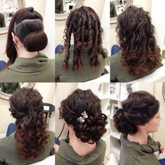 Pin by Selissa Thompson on hair styles in 2018 Pin by Selissa Thompson on hair styles in 2018 Curly Hair Styles, Curly Hair Updo, Medium Hair Styles, Up Hairstyles, Pretty Hairstyles, Wedding Hairstyles, Wedding Hair And Makeup, Bridal Hair, Hair Makeup