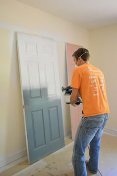 I'm DEFINITELY using their technique for painting doors and baseboard next time around! | Young House Love