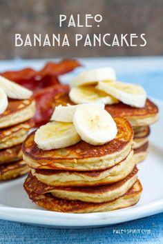 These 20 Make-Ahead Paleo Breakfast Ideas are a great way to stay on track! Make these Paleo breakfast recipes ahead of time, so you can grab and go during the week. Breakfast And Brunch, Paleo Breakfast, Breakfast Recipes, Breakfast Ideas, Banana Breakfast, Dairy Free Pancakes, Coconut Flour Pancakes, Banana Pancakes, Pancakes Easy