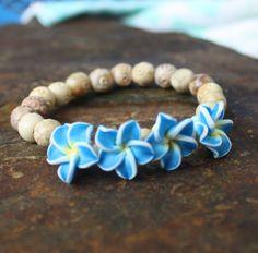Blue Flowers Bracelet | Blue Laamb Designs