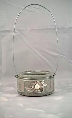 Lantern Small Candle Holder Gift Upcycled Glass Ramekin Wedding Gift Garden…