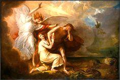 """""""Expulsão de Adão e Eva do Paraíso"""" - Benjamin Wes"""