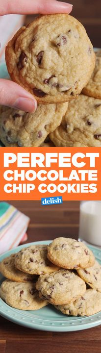 You'll never pick up store-bought cookie dough again after trying these Perfect Chocolate Chip Cookies #25DaysOfCookies. Get the recipe from Delish.com.