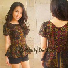 Batik Blazer, Blouse Batik, Batik Dress, Cute Fashion, Asian Fashion, Fashion Outfits, Casual Work Dresses, Dresses For Work, Rok Batik Modern