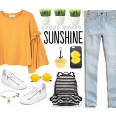 How To Wear SUNSHINE Outfit Idea 2017 - Fashion Trends Ready To Wear For Plus Size, Curvy Women Over 20, 30, 40, 50
