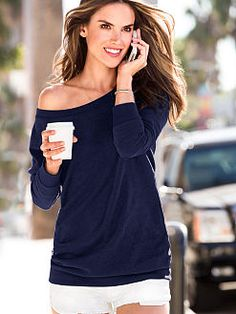 Fleece Off-the-Shoulder Tunic  Victoria's Secret