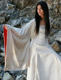 'Prana' Kimono, also from Wai Ching. I thought this was a cool, different wedding dress idea