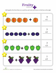 Worksheets: Fruitful Addition