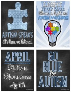 autism-pass-out-cards...April is Autism Awareness month free printables at inkhappi.com