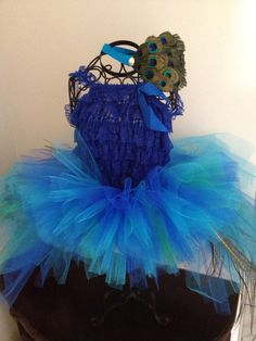 Peacock tutu by Babyboutiquebycp on Etsy