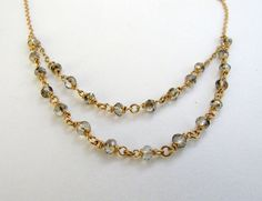 Silver Shedow Layers necklace. Statment necklace. by LirLir, $57.00