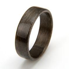 Greyed maple wood ring. Custom designs.